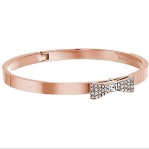 Kate Spade Ready Set Bow Bangle in Rose Gold